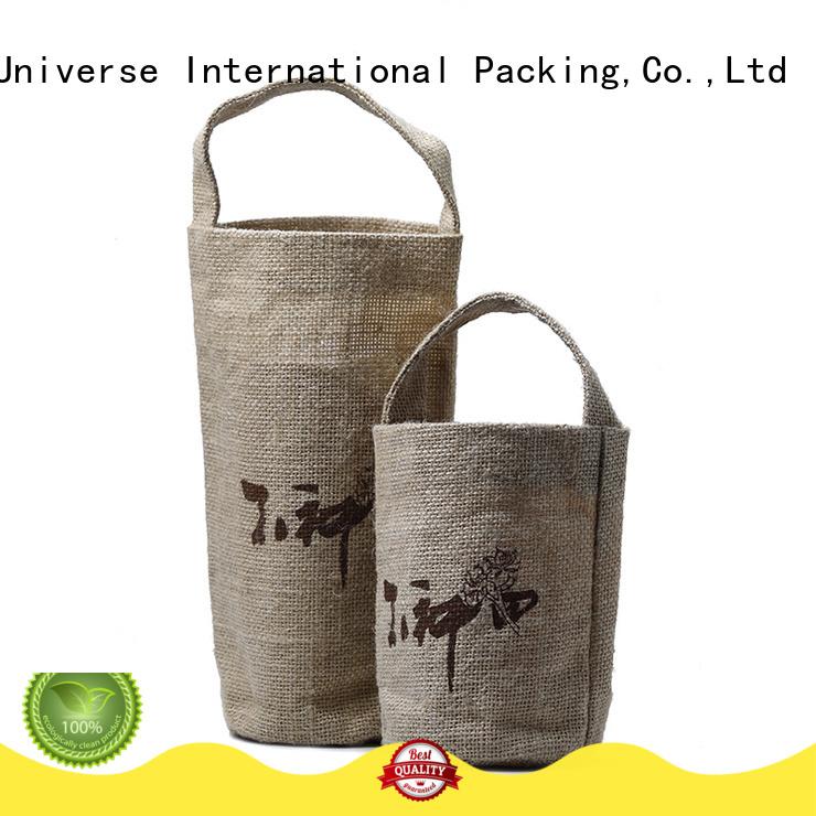 Yonghuajie jute drawstring bag high quality for wine