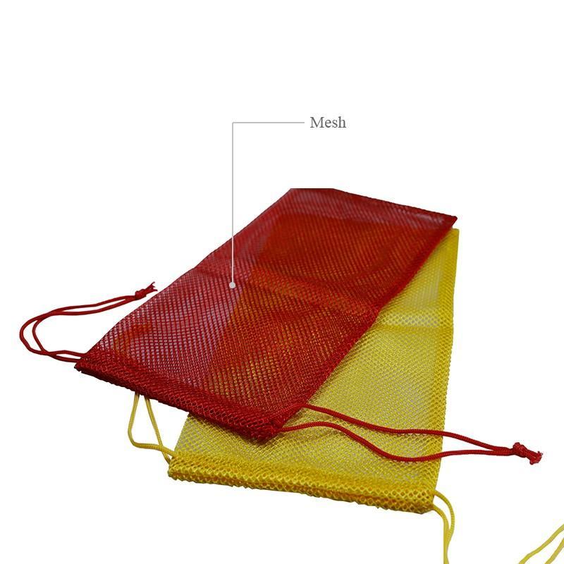 Custom colors mesh drawstring bag-2