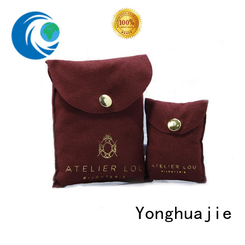 Yonghuajie on-sale grey suede bag suede jewelry pouch suede drawstring bag envelope for students