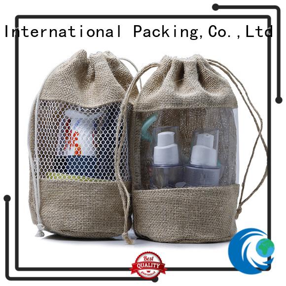 Yonghuajie bamboo handle jute tote bag free sample for storage