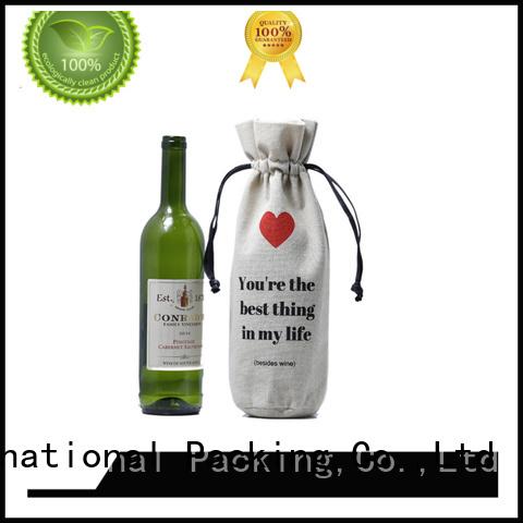 Wholesale logo wine linen pouch                                                                                                                                                                                               linen drawstring bag Yonghuajie B