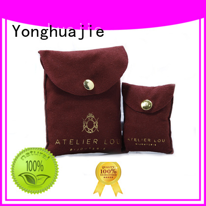 grey suede bag suede jewelry pouch suede drawstring bag envelope for friends Yonghuajie