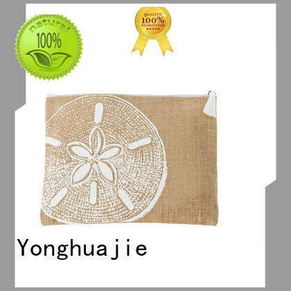 custom logo printed jute bags free sample for storage Yonghuajie