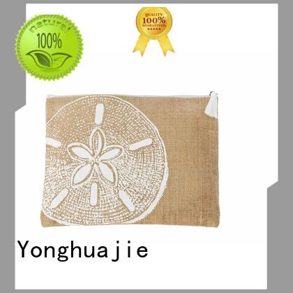 custom logo printed jute bags free sample for storage Yonghuajie