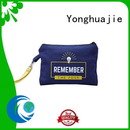 Canvas Zipper bag with PU leather handle