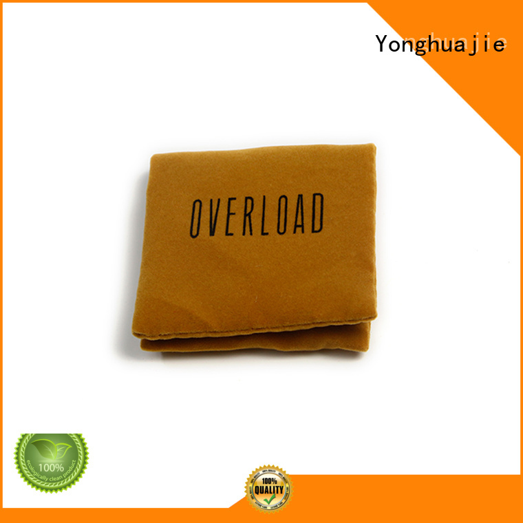 velvet jewellery pouches printed logo for packing Yonghuajie