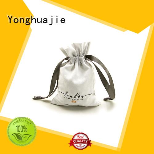 Custom bottle package linen pouch                                                                                                                                                                                               linen drawstring bag Yonghuajie