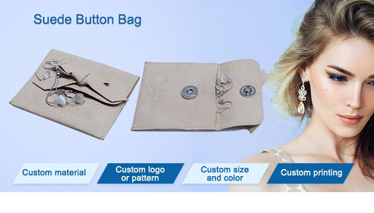 hot-sale grey suede bag suede jewelry pouch suede drawstring bag new arrival Supply for present-1