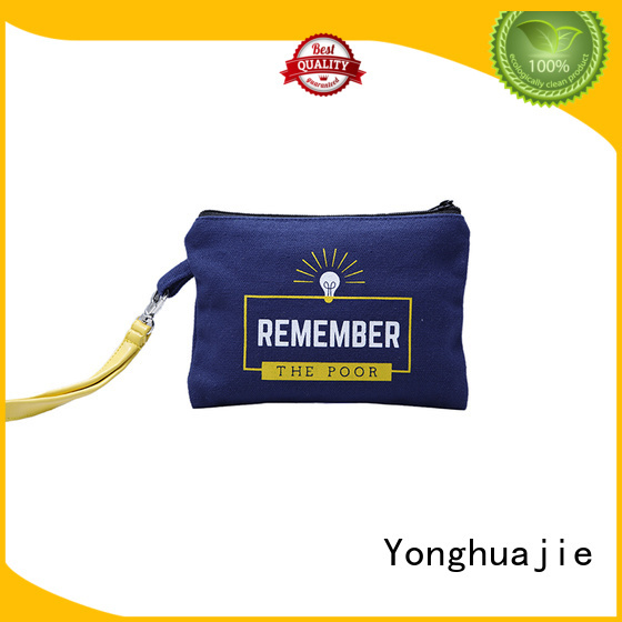 Yonghuajie Brand cosmetic blank natural personalized canvas tote bags packaging