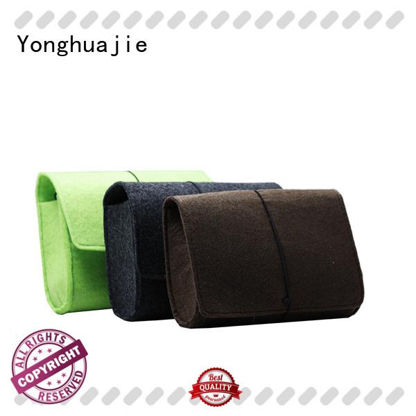 small felt pouch felt storage bag felt shopping bag felt jewelry bag flap for storage Yonghuajie
