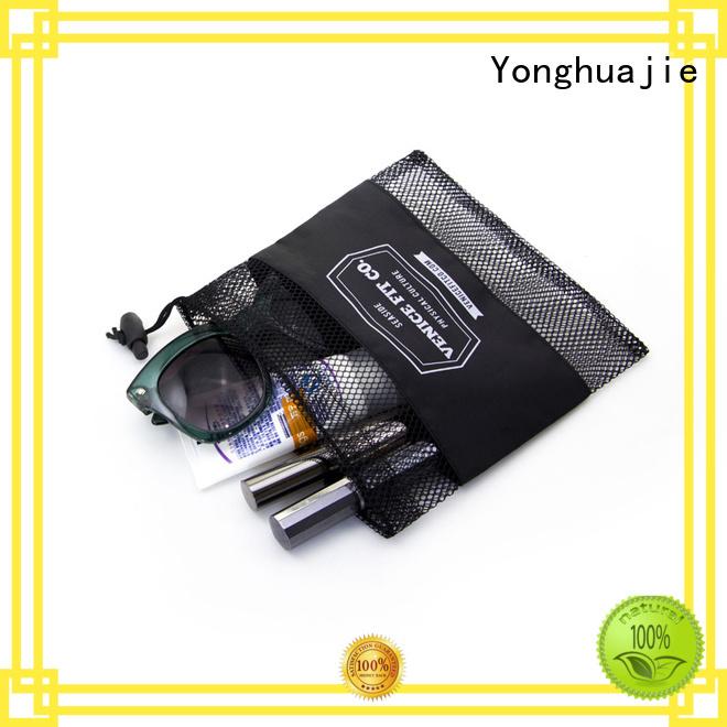 cosmetic mesh black mesh drawstring bags Yonghuajie Brand