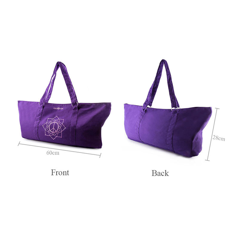 Yonghuajie custom size canvas tote bags with zipper cotton for makeup-1