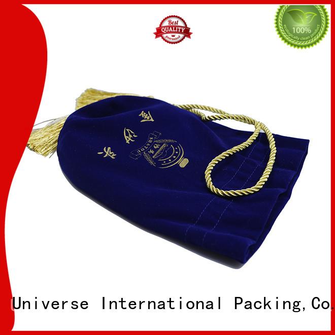 Yonghuajie purple velvet makeup bag cheap for packing