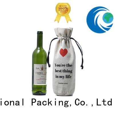 drawstring linen pouch                                                                                                                                                                                               linen drawstring bag bottle logo Yonghuaji