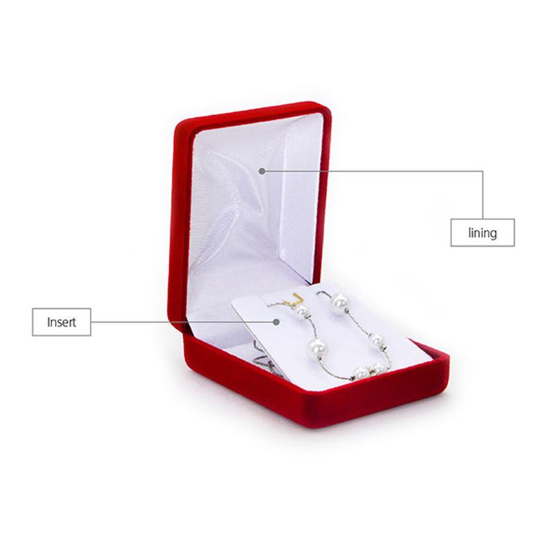 Yonghuajie red velvet necklace box free sample-2