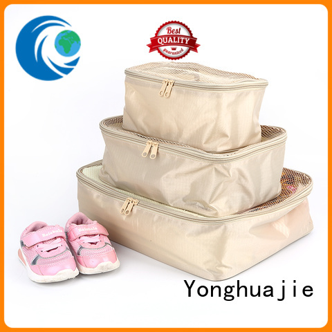 Yonghuajie drawstring polyester bag with zipper for shopping