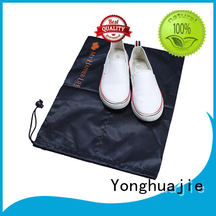 Yonghuajie marble mesh zipper bag silk for cosmetics