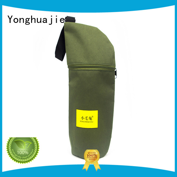 Yonghuajie silk printing nylon shopping bags with handle for packaging