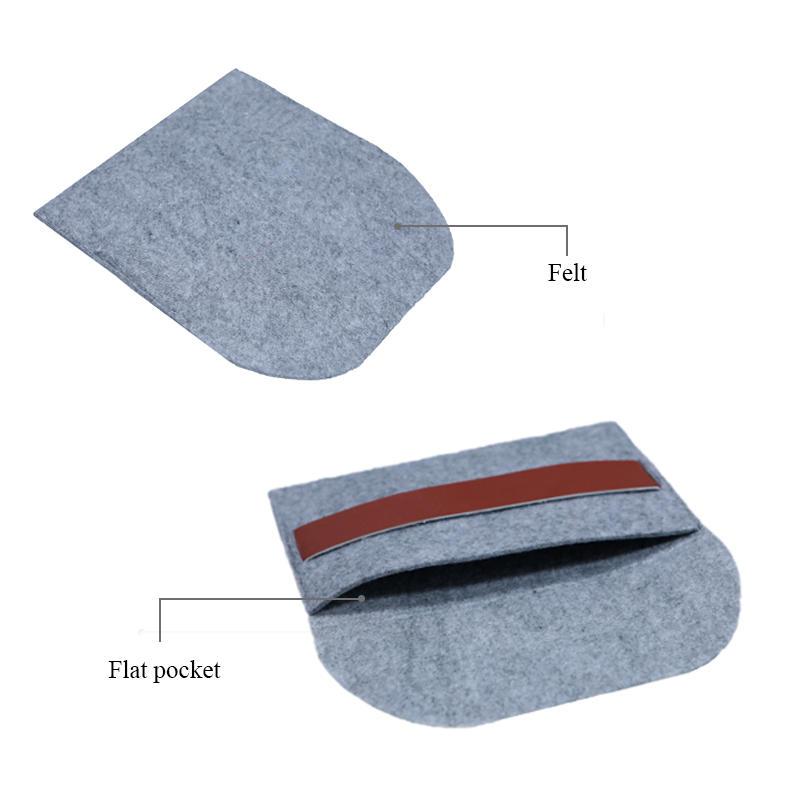 Custom Grey Felt Bag for power bank packing-2