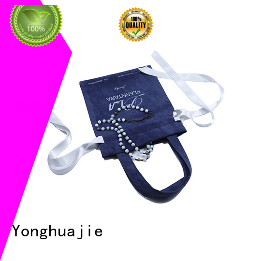 velvet jewellery pouches purple for packing Yonghuajie