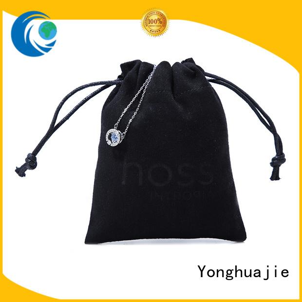 grey suede bag suede jewelry pouch suede drawstring bag envelope for school Yonghuajie