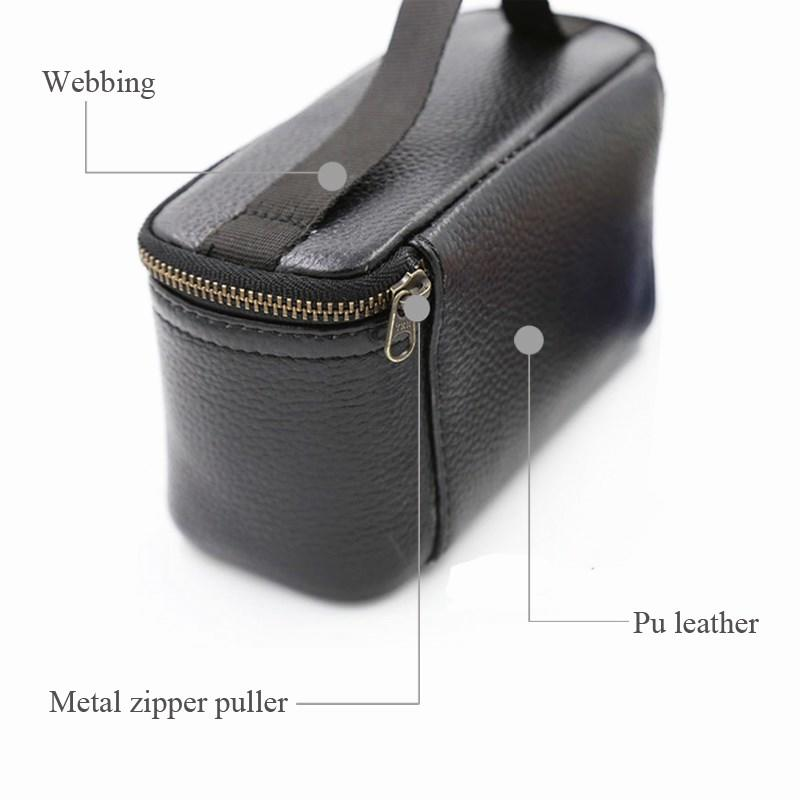 printed black leather makeup bag large for jewelry Yonghuajie-2