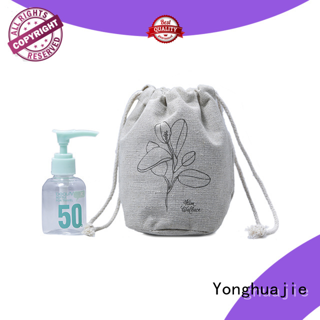 Yonghuajie fast delivery linen pouch linen drawstring bag natural for shopping