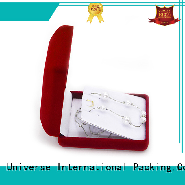 Yonghuajie red the velvet box at discount for wedding rings