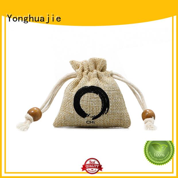 Yonghuajie custom logo jute gift bags small pouch for wine