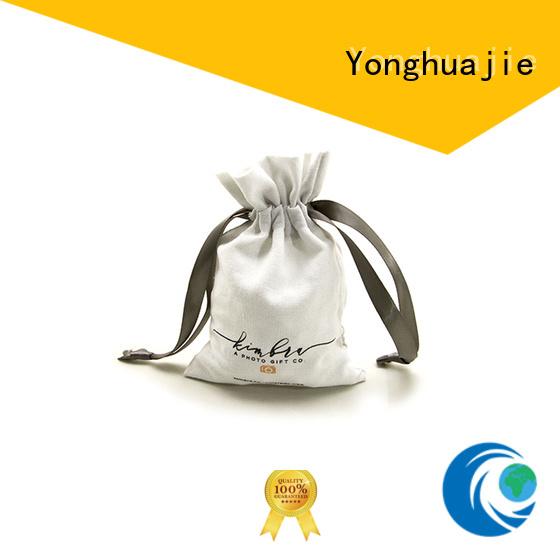 Yonghuajie close linen pouch linen drawstring bag free sample for shopping