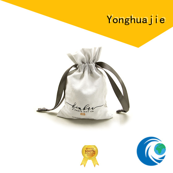Yonghuajie close linen pouch linen drawstring bag free sample for shopping