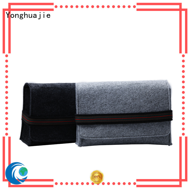 Yonghuajie flap felt purse Suppliers for gift packing