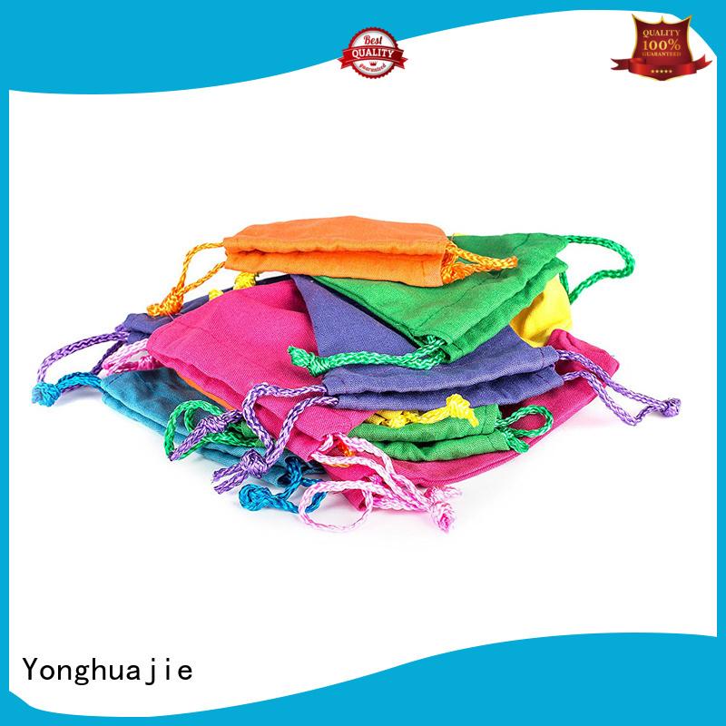 Yonghuajie blank black canvas tote bag for cosmetic