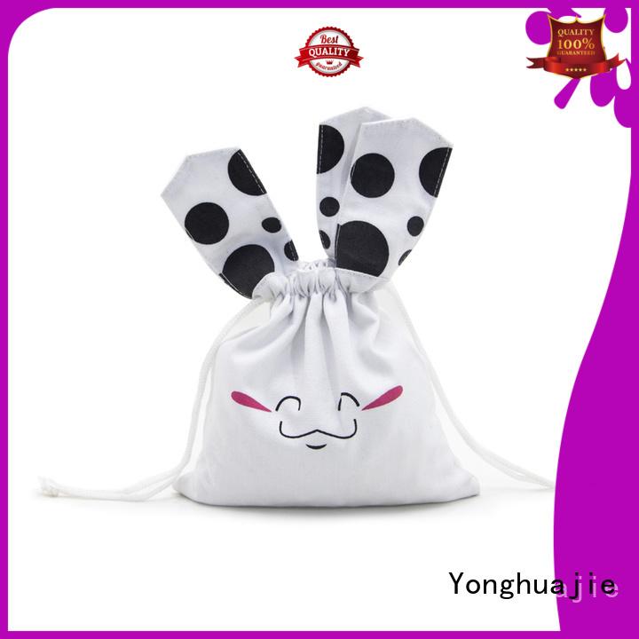 Yonghuajie Custom cloth tote bags with drawstring for shopping