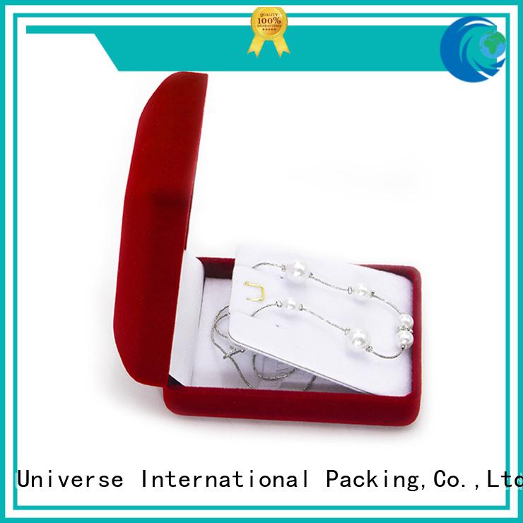 Yonghuajie flocking crushed velvet box velvet ring box free sample for necklace