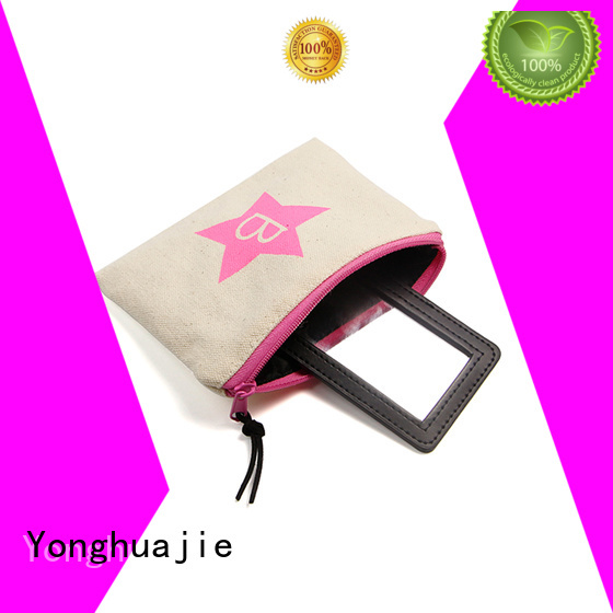 embroidery cheap canvas bags canvas drawstring bag glitter for makeup Yonghuajie