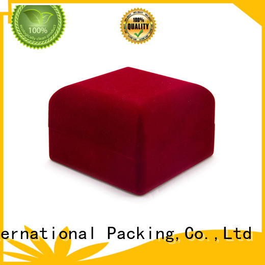 Yonghuajie custom velvet storage box red for jewelry