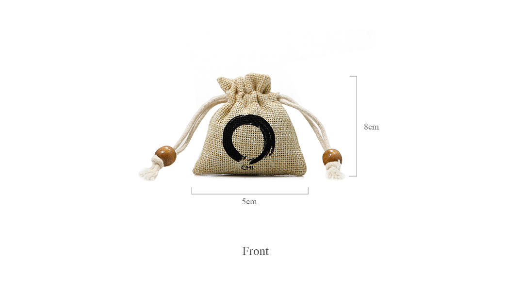 Small Jute Drawstring Pouch with Custom Logo-1