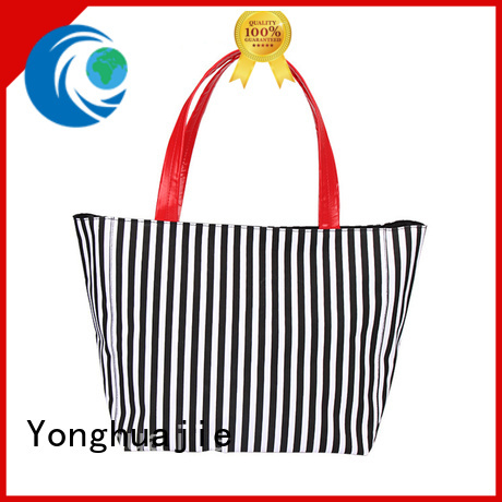 Yonghuajie natural wholesale canvas bags pu leather for shopping