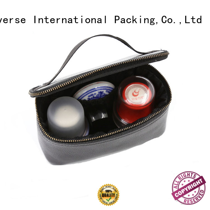 printed black leather makeup bag large for jewelry Yonghuajie