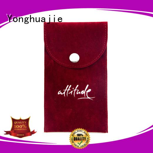 luxury storage gift Yonghuajie Brand velvet jewelry bag factory