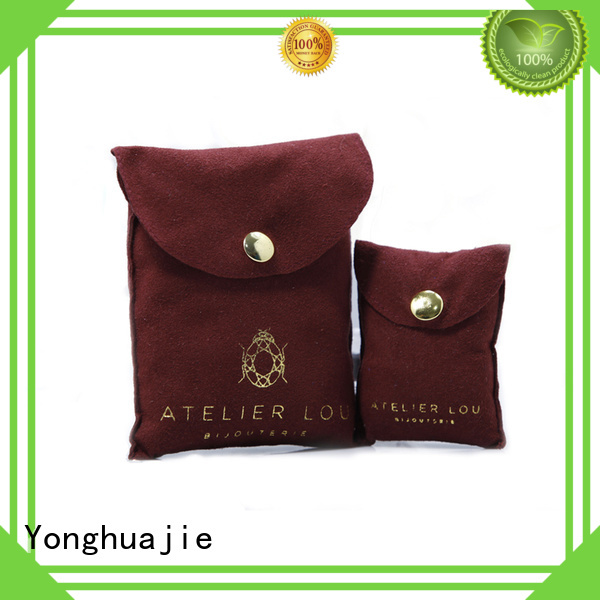 Yonghuajie free delivery grey suede bag suede jewelry pouch suede drawstring bag at discount for friends