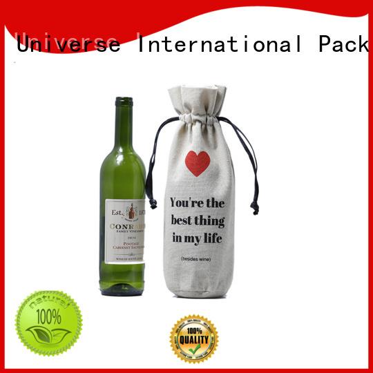 grosgrain linen laundry bag linen gift bags natural for shopping Yonghuajie