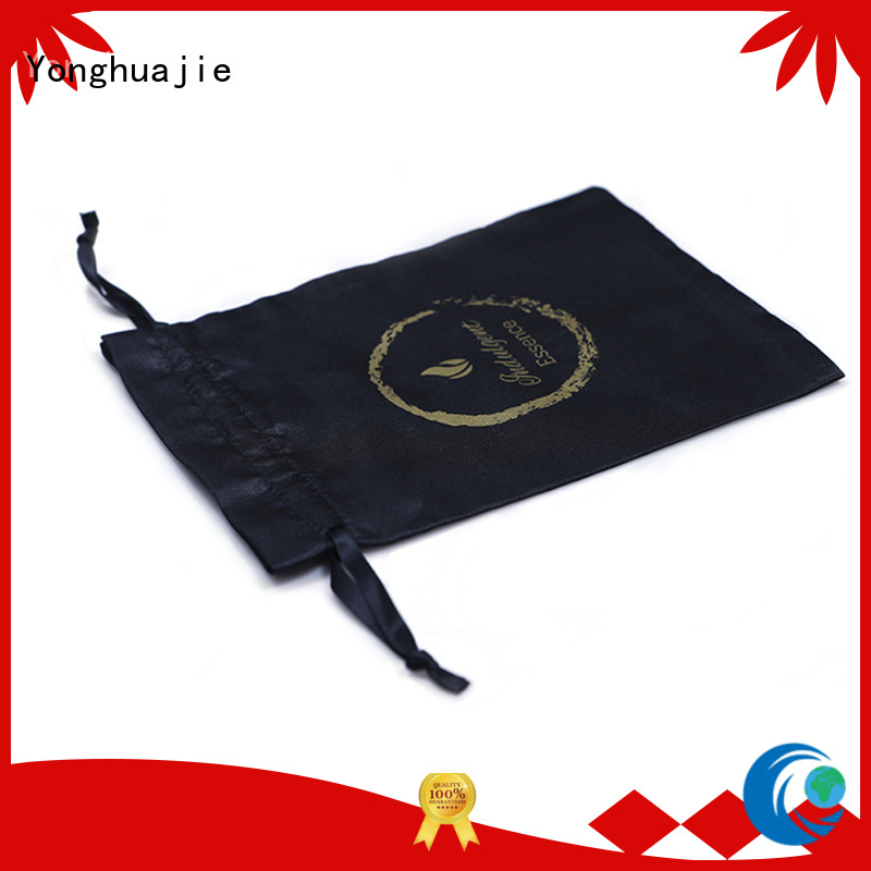 soft satin bags with drawstring for shopping Yonghuajie