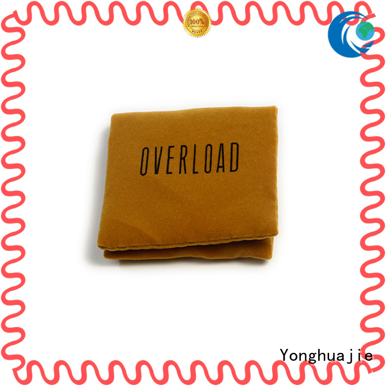 gold velvet jewelry bag best factory price for jewelry store