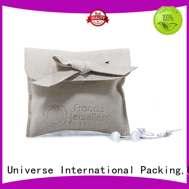 hot-sale grey suede bag suede jewelry pouch suede drawstring bag new arrival Supply for present