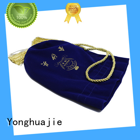 Yonghuajie printed velvet pouch purple for gift