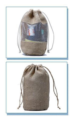 Yonghuajie bamboo handle jute tote bag free sample for storage-2