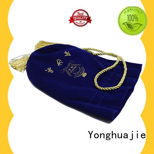 purple velvet gift bag at discount for gift Yonghuajie