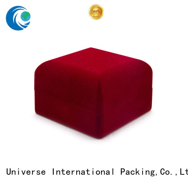 Yonghuajie flocking the velvet box free sample for gift